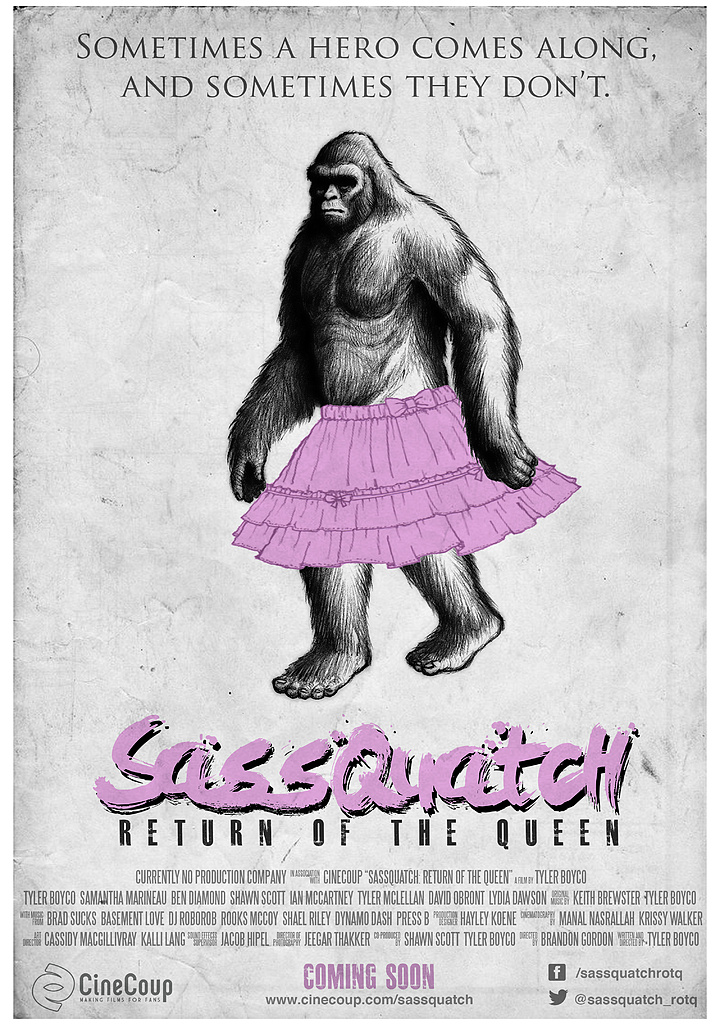 Mission #3: The Poster B - Sassquatch: Return of the Queen