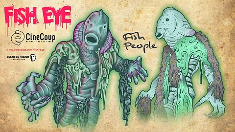 Fish People: This is an idea of the Fish People in the film inspired by