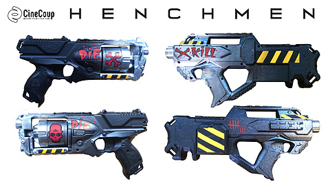 Weapon Concepts: Concepts for weapons for the henchmen crew.