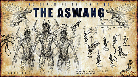 The Shifter Race: The Aswang: As the original race guarding the Source, the Aswang is the last armada of clans and tribes standing against growing force of the Semperos Empire of the Vampyres.  Unlike the puritan, unchanging physiology of Vampyres. Shifters use their own more developed Cloaks to assimilate the genetics and therefore the physiology of an imprinting animal - usually one that their clan or tribe reveres or worships.  For example, the Lycanthropic Tribe worships the wolf - their Cloaks have evolved to use the genetics of wolves enabling them to adopt the animal's characteristics, abilities, and appearance.