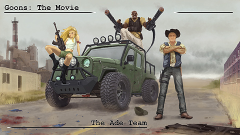 The Ade Team!: The Goons encounter the stars of the hit film