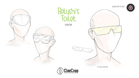 VR VISOR: Evolution of the virtual reality VISOR, from bulky design, to thin flexible display. Artist: James Upright.