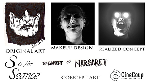 S is for Seance Gost Concept Art: From our resident artist, the Ghost of Margaret concept art as well as the make up design and the finished concept.