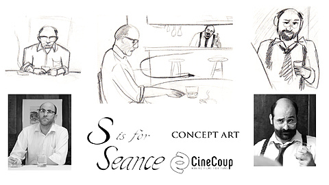 S is for Seance Character Concept Art: Taken straight from story boards made for S is for Seance is character drawings for Barry and Robert.