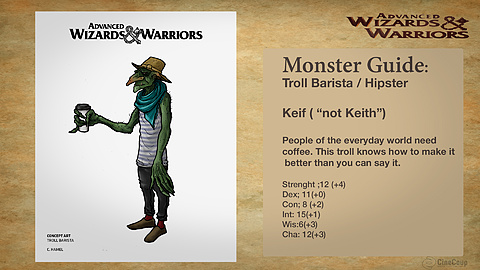 Monster Guide page 3: Keif