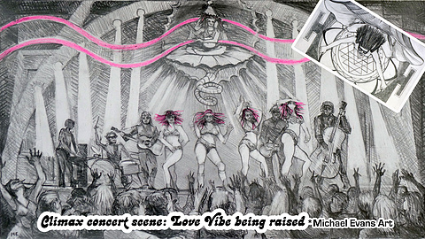 Climax!  Disco Love Orgy!: Concert scene where Cherry Pop ascends on her magic carpet & Goddess love vibe is released to the world!