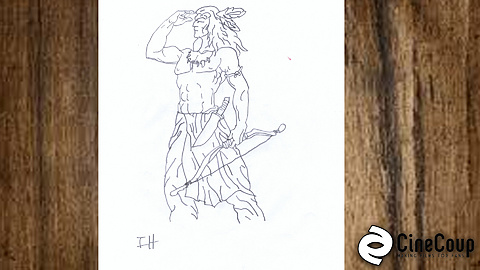 The Apache Warrior: A rough sketch of one of our Apache Warriors in our western!