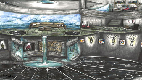 CEO's Mansion.: Entrance foyer for the mansion of the Cognition corporation's CEO; the head of the snake. The final destination for our heroes who must eliminate their nemesis to ensure their own survival.