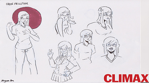 Chloe Pelletier the Love Interest: Chloe is the new girl at Life Pairing dating site, she wants to advance to the top by matchmaking as many online as she can. Do not be fooled by her beauty, for she is very competitive. Concept art by Bryan Yu.