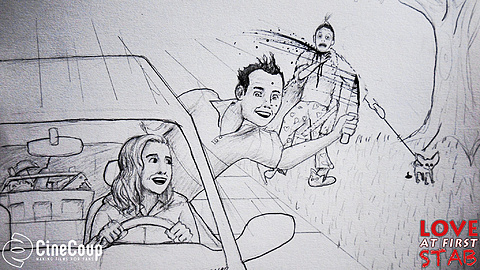 Drive by stabbing: Judy and Sam go for a nice Sunday afternoon drive. Concept art drawn by Jack Lesarge: http://jack-lesarge.tumblr.com/