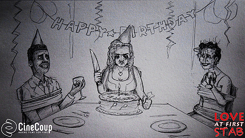 Judy's Birthday Party: After Sam breaks up with Judy she forces an unsuspecting couple to celebrate her birthday with her. Concept art drawn by Jack Lesarge: http://jack-lesarge.tumblr.com/