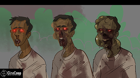 Evolution of: This is the evolution of Zombies/Infected. Illustrated by the talented Sarah Elecko.