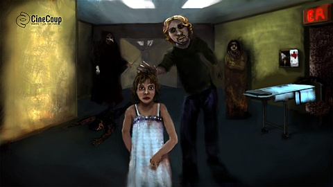 Possessed Sarah: Sarah's father, Jack reaches out to his possessed daughter.