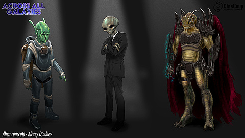 The Martian, the Grey, and the Arcturian: Alien concepts designed by concept artist Alexey Osodoev       http://www.xeyos.com/pages/concept-art.html