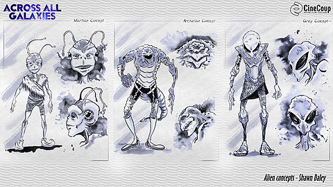 Alien concepts: Artist Shawn Daley's take on the same 3 alien races,     http://shawndaley.ca/